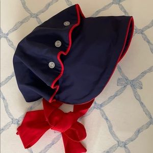 Beaufort Bonnet Navy with Red  Large (18m-2T)